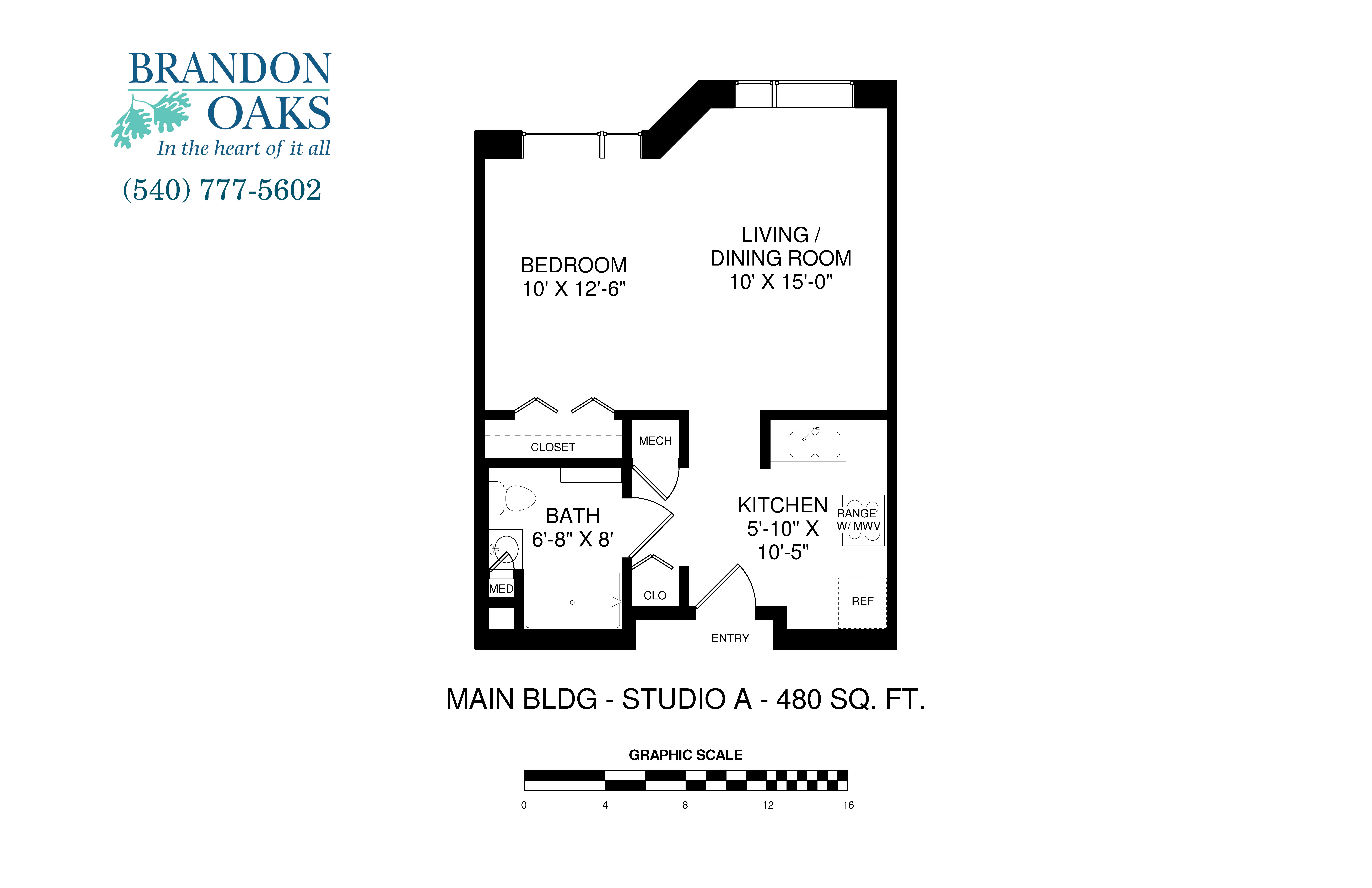 Studio Apartment Floor Plans 480 Sq Ft main building apartments | brandon oaks